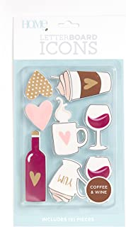 DCWVE Die Cuts with A View Icon Pack Letterboard-Coffee/Wine (8) LP-006-00033, Coffee & Wine