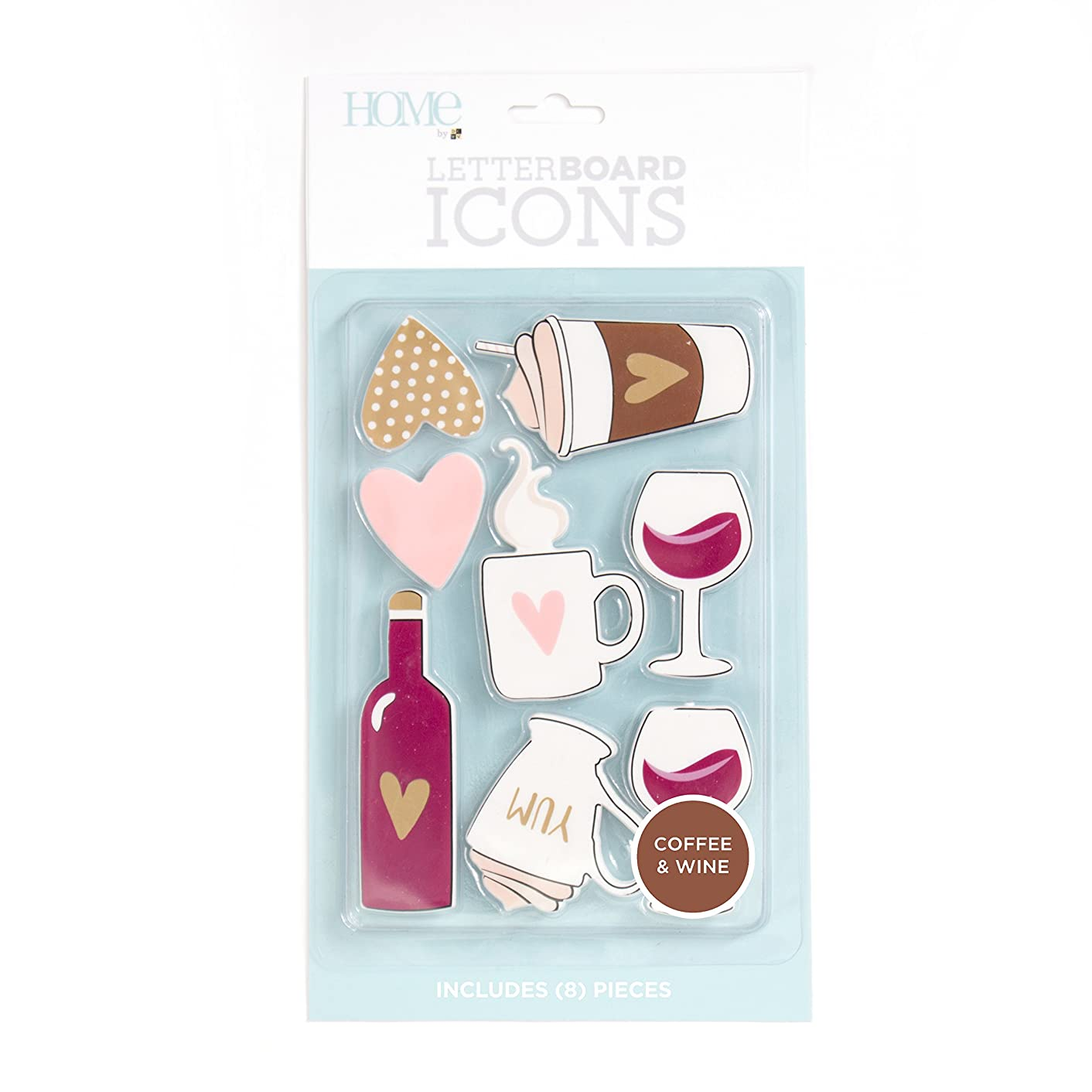American Crafts 8 Piece Coffee/Wine Icon Pack Die Cuts with a View Letterboards