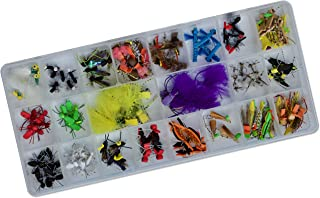 Thor Outdoor 124 Pc Premier Topwater Fly Fishing Set with Case - Ideal for Bass, Panfish, and Trout