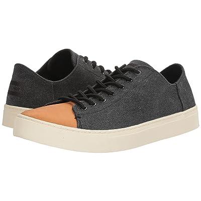 TOMS Lenox Sneaker (Black Washed Canvas/Leather) Men