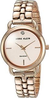 Anne Klein Women's AK/2794RGRG Diamond-Accented Rose Gold-Tone Bracelet Watch