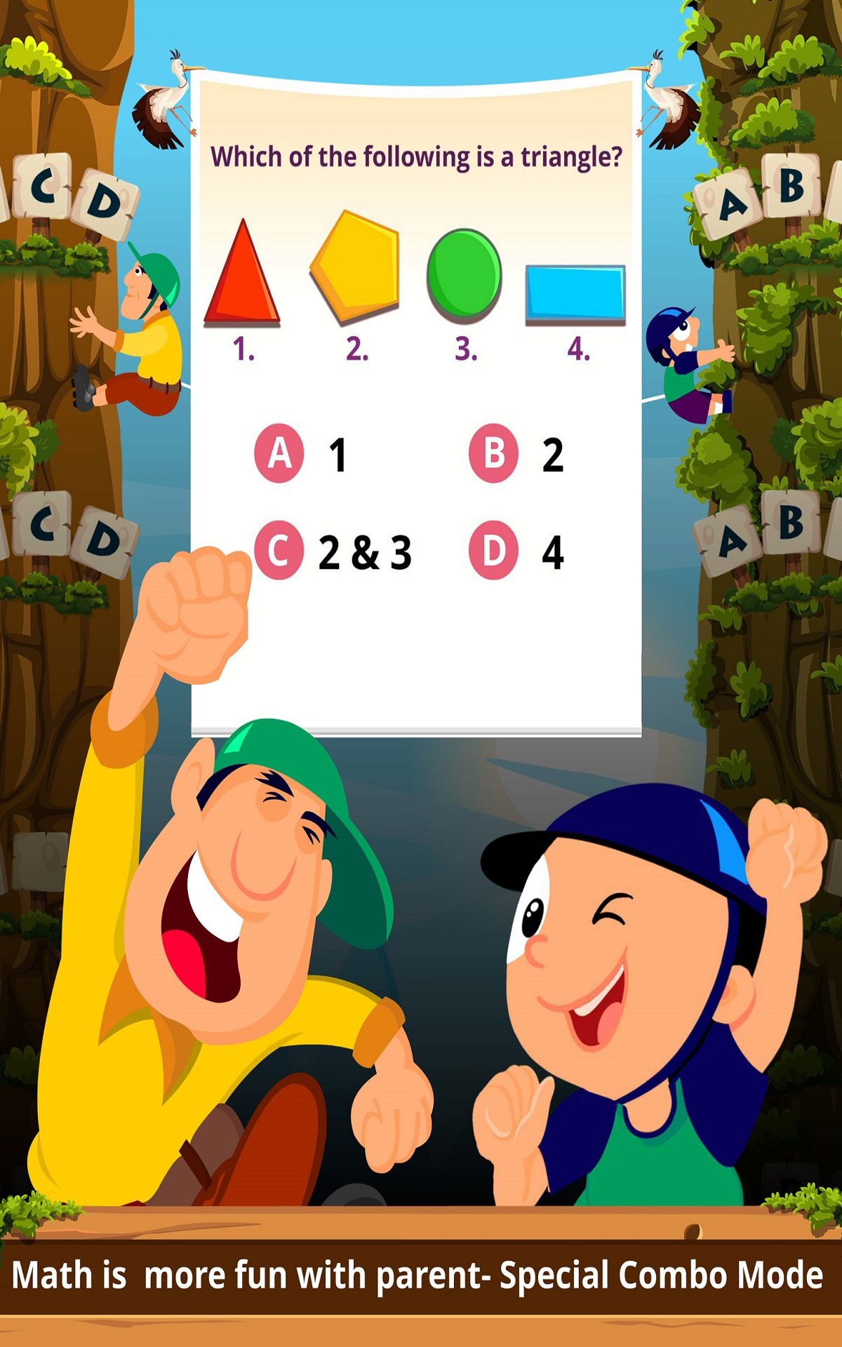 Math Games for Kids of Grade 1 - 5 : Addition Subtraction Multiplication Fractions Geometry Practice with Mathaly