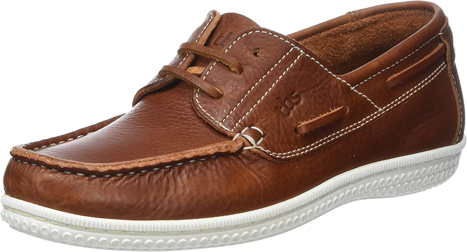 TBS Men's Yolles B8 Boat shoes, Cognac