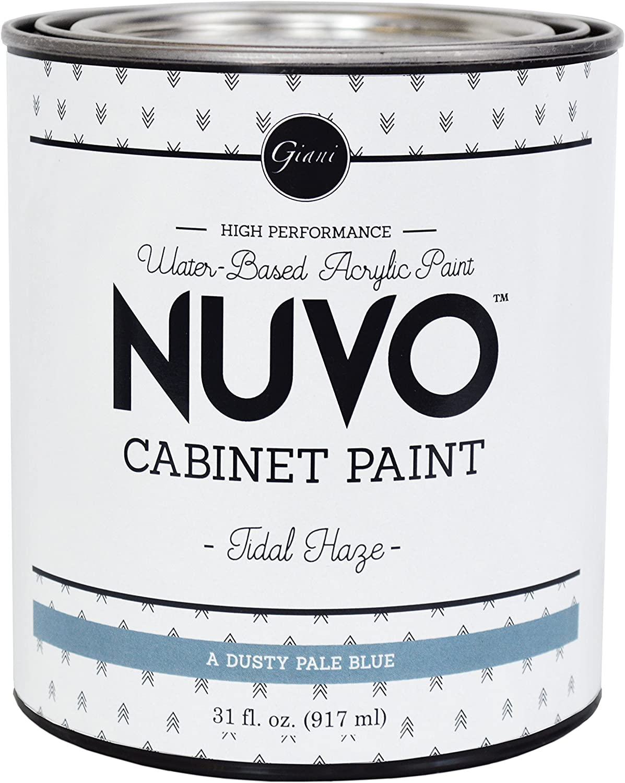 Nuvo famous Cabinet Boston Mall Paint Haze Tidal Quart