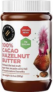 100% Cacao Hazelnut Butter by Blue Stripes | Vegan Chocolate Spread | Sugar Free, Keto-Friendly, No Palm Oi...