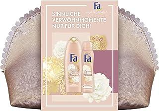 Fa Geschenkset Divine Moments mit 250ml Duschgel, 150ml Deospray und eleganter Kosmetiktasche, 1er Pack (1 x 250 ml + 1 x ...
