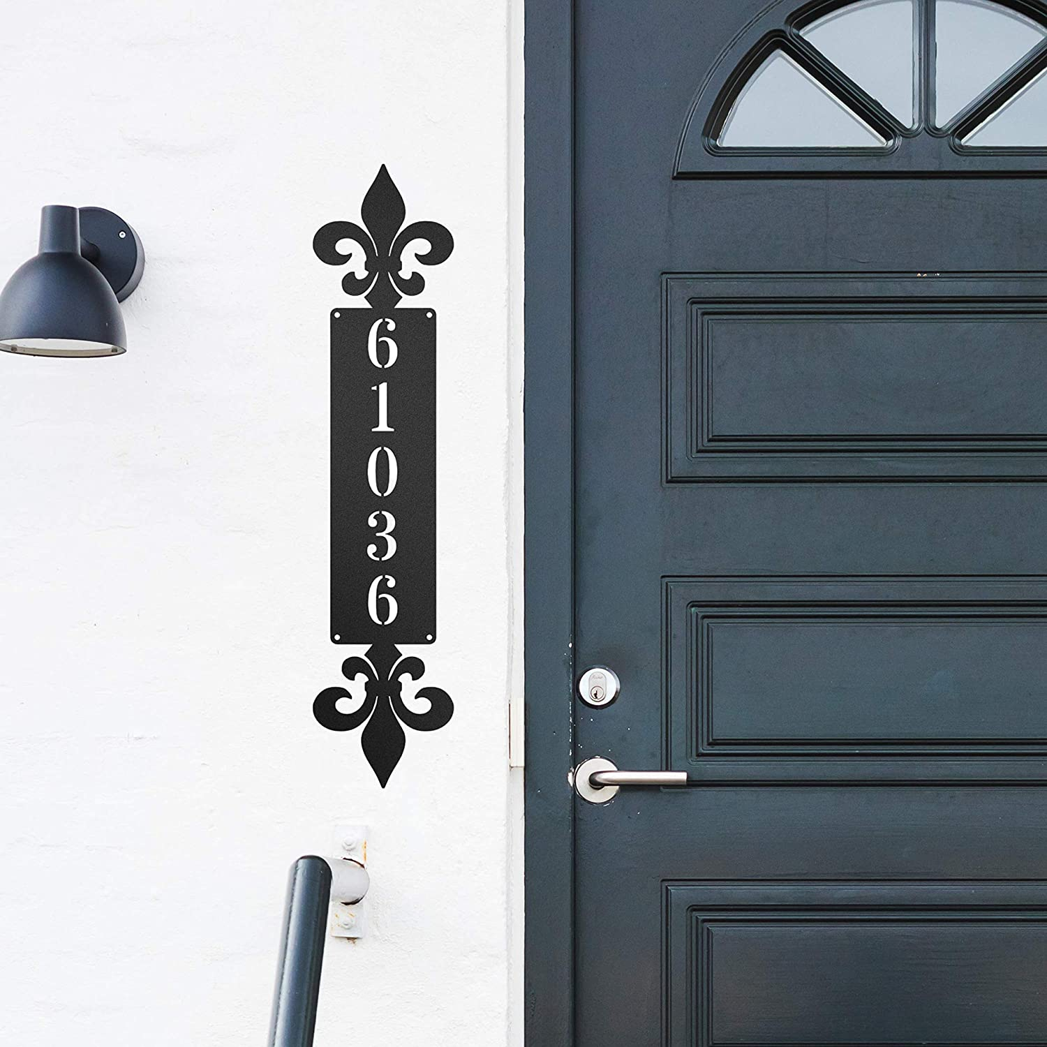 Redline Steel Personalized House Numbers Fleur - de Max Selling and selling 45% OFF Vertical Lis