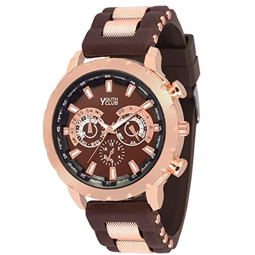 Youth Club Browny Big Dial Chronograph Pattern for Boys