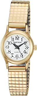 Viva Time Women's 'Timetech Stretch Bracelet' Quartz Metal and Stainless Steel Casual Watch, Color:Gold-Toned (Model: 2655L)