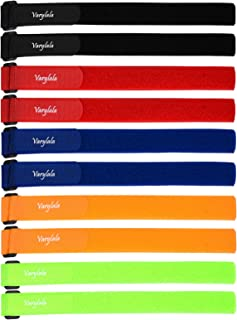 10 Pcs Versatile Hook and Loop Securing Straps Tie downs Fastening Stabilizer Straps (1''x23.5'') – Assorted Colors (Multi-color)