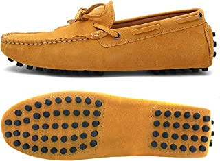 Urbancolor Men Casual Moccasins Breathable Driving Shoes Suede Leather Slip-on Loafers