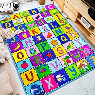 teytoy Baby Play Mat, Baby Crawling Mat Super Soft Carpet Plush Surface Non-Slip Design, Baby Floor Playmat for Kids Area ...