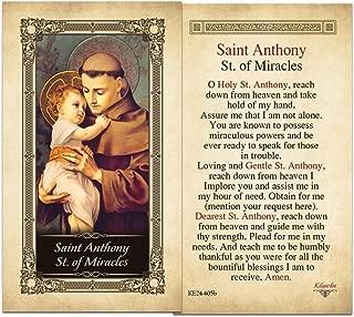 Saint Antony St. of Miracles Laminated Prayer Card - Pack of 10