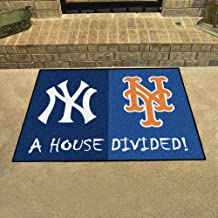 Fan Mats New York Mets House Divided Rugs