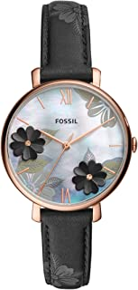Fossil Womens Quartz Watch, Analog Display and Leather Strap ES4535