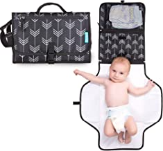 Portable Diaper Changing Pad with Head Pillow - Foldable Travel Diaper Station - Replaces Heavy Diaper Bag - Baby Shower Gift Registry Must Have