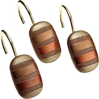Popular Bath Shower Curtain Hooks, Contempo Collection, Spice