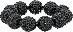 Kenneth Jay Lane - Black Pave Ball Stretch Bracelet