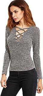 e176048627be6 Amazon.fr : ROMWE - Pulls, Gilets & Sweat-shirts / Femme : Vêtements