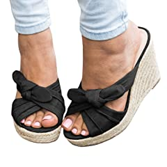 99825f9563f New Womens Summer Wedge High Heels Fashion Casual Sandals Shoes ...