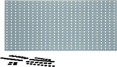 Acerto 40361 Metalen gereedschapswand, 46 x 98 cm, met 44 haken, europerforatie, solide afgewerkt, zonder scherpe randen, ...