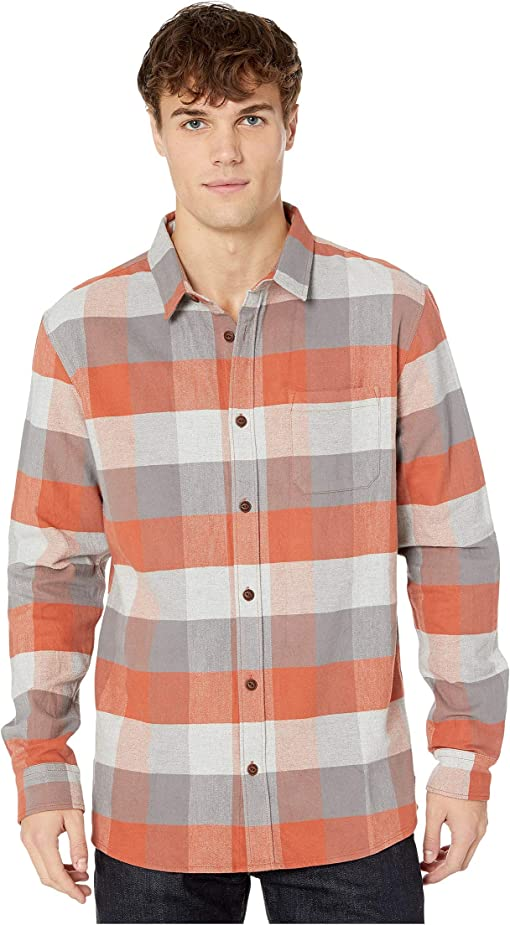 Burnt Brick Stretch Flannel Reh