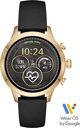 Michael Kors Access MKT5053 Smartwatch para Mujer, Correa Silicon color Negro, Caja color Dorado, Multifunción