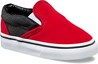 Vans Toddler Classic Slip-On VN0A32QJQ6W (Suede Suiting) Racing Red Black 5a1a1d1e1