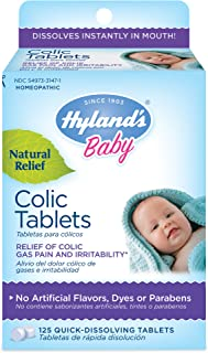Hyland's Baby Colic Tablets, Natural Relief of Colic Gas Pain and Irritability, 125 Count