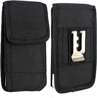 for Xiaomi Mi A2 Holster Belt Clip Carrying Case, CimdaUS Outdoor Nylon Vertical Holster Pouch Waist Bag with Belt Loop for Xiaomi Mi A2 Lite/Redmi Note 6 Pro/Redmi Note 5/Mi 8/Pocophone F1 (Black)