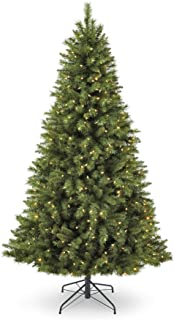 NOMA 7-Foot Pre-lit Christmas Tree with Lights | Henry Fir | 400 Color-Changing LED Bulbs | Clear Warm White and Multicolor Lights | 1000 Branch Tips