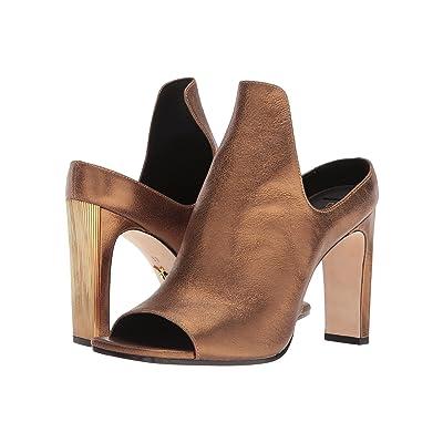 Donna Karan Sutton Mule (Antique Gold Metallic Suede) High Heels
