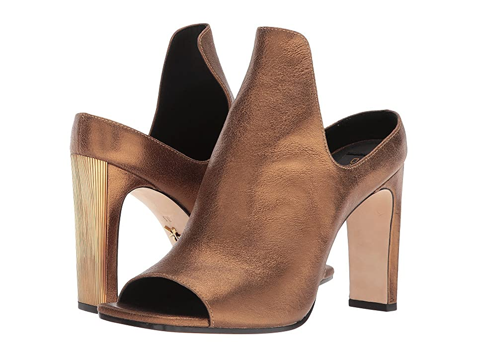 Donna Karan Sutton Mule (Antique Gold Metallic Suede) High Heels