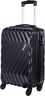 fa512ce1147 Nasher Miles Lombard Soft Side Cabin Luggage|Black 20 Inch /55CM Trolley Bag