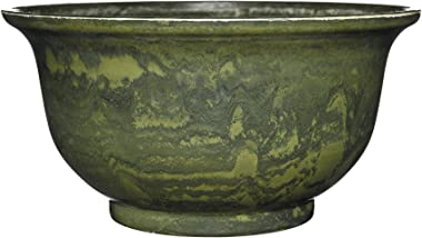 "Venetian Deep Bowl 12.5"" Planter, Green Granite"