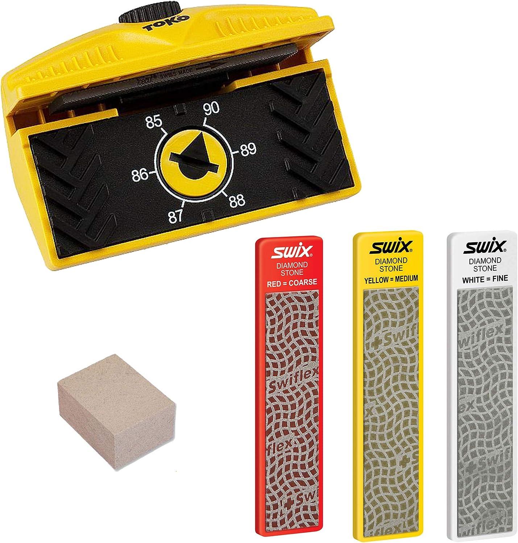 Amazon Com Expert Edge Care Kit Ski Side Angle Tool 3 Swix Diamond Stones Gummi Stone Sports Outdoors