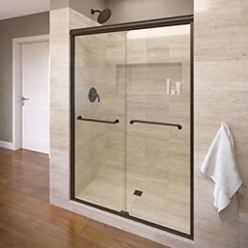 Basco INFH05A5870CLOR Infinity Semi-Frameless Sliding Shower Door, Oil Rubbed Bronze