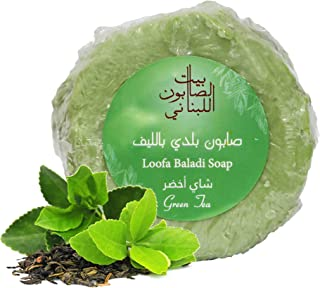 Bayt Al Saboun Al Loubnani Green Tea Loofah Soap - 300 Gm