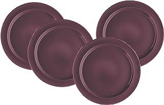 Emile Henry 11-inch Dinner Plates, Set of 4, Figue
