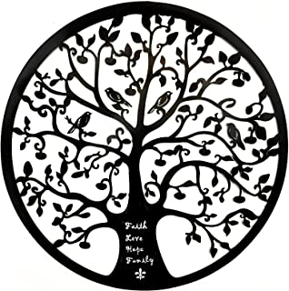 Bellaa 21925 Tree of Life Metal Wall Art Faith Love Hope Family 24