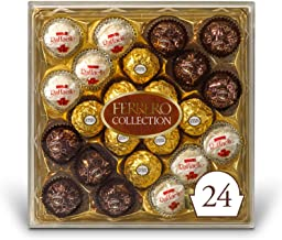 Ferrero Rocher Collection, Fine Hazelnut Milk Chocolates, 24 Count, Valentine's Day Gift Box, Assorted Coconut Candy and Chocolates, 9.1 oz