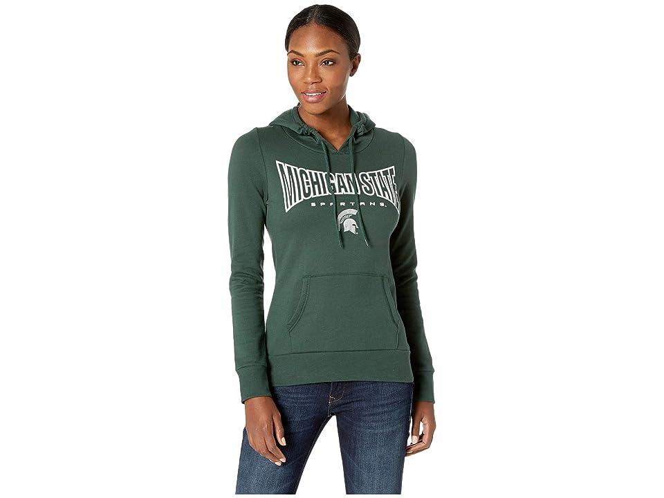 Champion College Michigan State Spartans Eco University Fleece Hoodie (Dark Green 2) Women