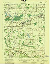 YellowMaps Churchville NY topo map, 1:31680 Scale, 7.5 X 7.5 Minute, Historical, 1944, Updated 1944, 20.5 x 16 in