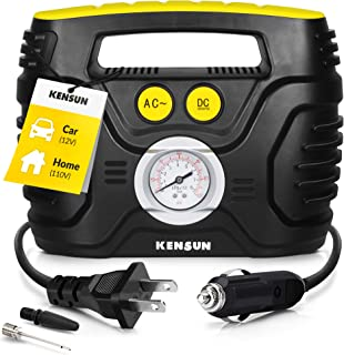 Kensun Portable Air Compressor Pump for Car 12V DC and Home 110V AC Swift Performance..