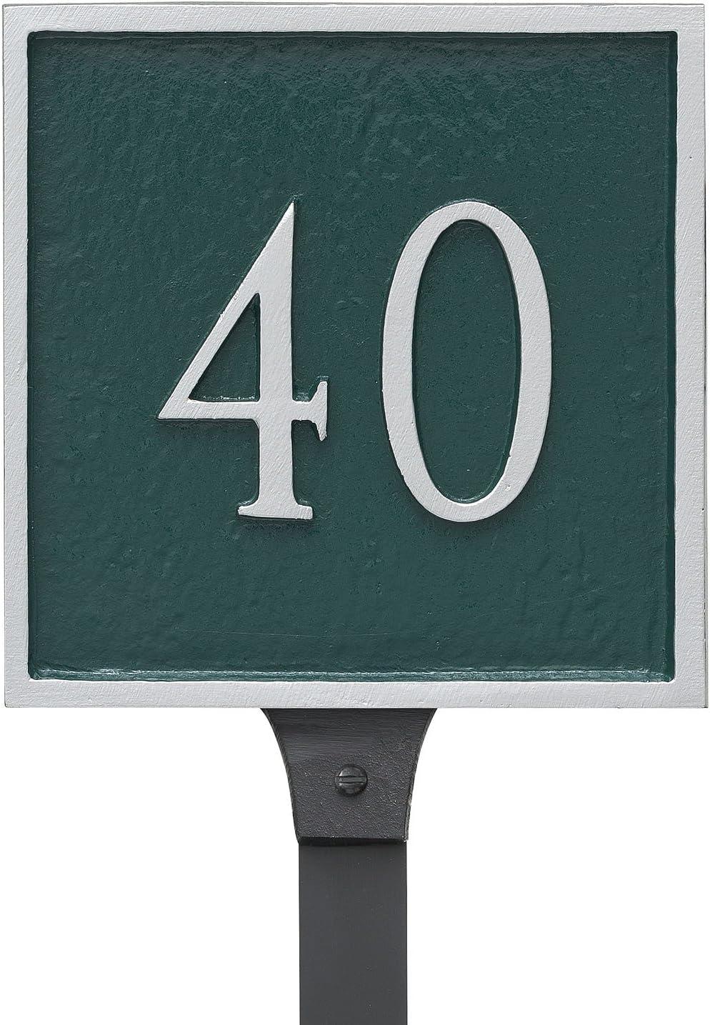 Montague Metal Classic ご予約品 Square Petite La 超定番 Address Sign with Plaque
