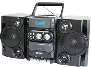 NAXA Electronics Portable MP3/CD Player with AM/FM Stereo Radio and Cassette Player/Recorder