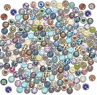 Aweisile 200 pièces Carreaux de Mosaïque Cabochon Mosaïque Cabochons en Verre Mosaïques en Verre Artisanat Décoration pour...