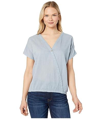 tentree Isa Woven Shirt (OC Stripe/Riviera Blue/Elm White) Women