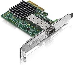 TRENDnet TEG-10GECSFP 10 Gigabit PCIe SFP+ netwerkadapter, standaard en platte bevestigingsklemmen inbegrepen