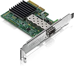 TRENDnet 10 Gigabit PCIe SFP+ Network Adapter, Standard and Low-Profile Brackets Included, TEG-10GECSFP